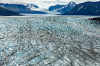 Summer landscape aerial photo of Knik Glacier and Chugach Mountains.  Southcentral, Alaska<br /> <br /> Photo by Jeff Schultz/SchultzPhoto.com  (C) 2018  ALL RIGHTS RESERVED<br /> Amazing Views-- Into the wild photo tour 2018