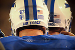 September 12, 2015 - Colorado Springs, Colorado, U.S. - Air Force players huddle prior to Mountain West Conference action between the San Jose State Spartans and the Air Force Academy Falcons at Falcon Stadium, U.S. Air Force Academy, Colorado Springs, Colorado.  Air Force defeats San Jose State 37-16.