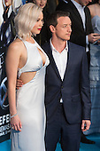 London, UK. 9 May 2016. X-Men actors Jennifer Lawrence (Raven/Mystique) and James McAvoy (Professor Charles Xavier) attend the X-Men: Apocalypse - Global Fan Screening at the BFI Imax cinema in London.