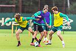 30.06.2020, Trainingsgelaende am wohninvest WESERSTADION,, Bremen, GER, 1.FBL, Werder Bremen Training, im Bild<br /> <br /> Yuya Osako (Werder Bremen #08)<br /> Niclas Füllkrug / Fuellkrug (Werder Bremen #11)<br /> Joshua Sargent (Werder Bremen #19)<br /> <br /> <br /> Foto © nordphoto / Kokenge