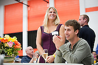 Photo fro the Class of 2011 Senior Scholar-Athlete Recognition Banquet on Saturday, May 14, 2011 in Rush Gymnasium. (Photo by Marc Campos, Occidental College Photographer)