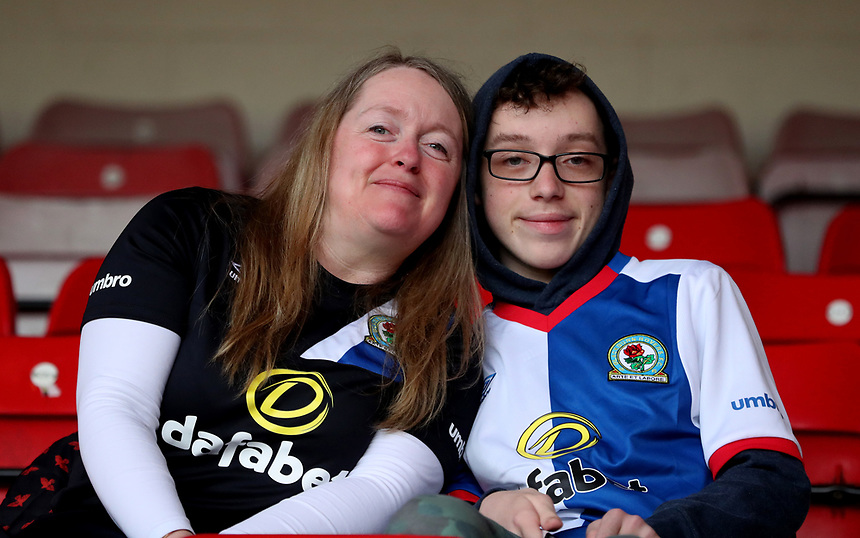 Blackburn Rovers Fans before todays match<br /> <br /> Photographer Rachel Holborn/CameraSport<br /> <br /> The EFL Sky Bet Championship - Nottingham Forest v Blackburn Rovers - Friday 14th April 2016 - The City Ground - Nottingham<br /> <br /> World Copyright &copy; 2017 CameraSport. All rights reserved. 43 Linden Ave. Countesthorpe. Leicester. England. LE8 5PG - Tel: +44 (0) 116 277 4147 - admin@camerasport.com - www.camerasport.com