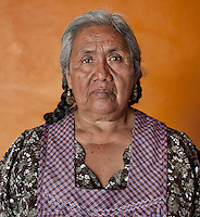 Rug weaver Gloria Santiago (cq) at Casa Santiago in Teotitlán del Valle, Oaxaca, in Mexico, Tuesday, April 10, 2012. ..Photo by Matt Nager