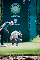 Oliver Fisher (ENG) and Lucas Bjerregaard (DEN) during the 3rd round at the Nedbank Golf Challenge hosted by Gary Player,  Gary Player country Club, Sun City, Rustenburg, South Africa. 10/11/2018 <br /> Picture: Golffile | Tyrone Winfield<br /> <br /> <br /> All photo usage must carry mandatory copyright credit (&copy; Golffile | Tyrone Winfield)