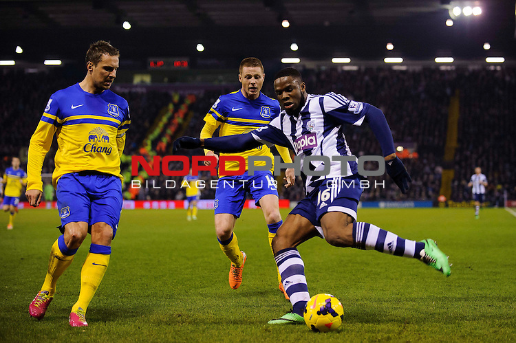 West Brom Forward Victor Anichebe in action -  - 20/01/2014 - SPORT - FOOTBALL - The Hawthorns Stadium - West Bromwich Albion v Everton - Barclays Premier League.<br /> Foto nph / Meredith<br /> <br /> ***** OUT OF UK *****