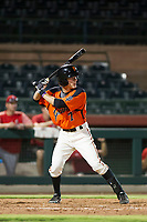 AZL Giants second baseman Kyle McPherson (7) bats during a game against the AZL Angels on July 10, 2017 at Scottsdale Stadium in Scottsdale, Arizona. AZL Giants defeated the AZL Angels 3-2. (Zachary Lucy/Four Seam Images)
