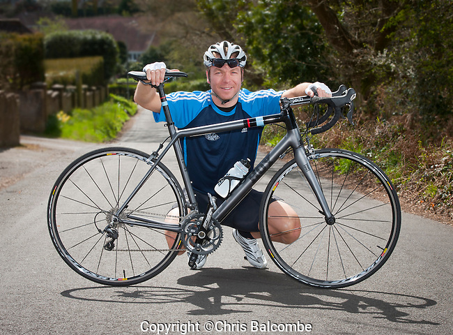 Commissioned shoot:<br /> Olympian Sir Chris Hoy in Hampshire. <br /> <br /> Pic: Chris Balcombe
