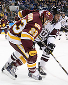 J.T. Brown (Duluth - 23), Nolan Julseth-White (Union - 2) - The University of Minnesota-Duluth Bulldogs defeated the Union College Dutchmen 2-0 in their NCAA East Regional Semi-Final on Friday, March 25, 2011, at Webster Bank Arena at Harbor Yard in Bridgeport, Connecticut.