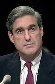 Robert S. Mueller, III appears before the United States Senate Judiciary Committee to be confirmed as the new Director of the Federal Bureau of Investigation (FBI) succeeding Louis F. Freeh in Washington, DC on July 30, 2001.<br /> Credit: Ron Sachs / CNP