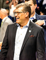 March 27, 2017 :  After 111 consecutive victories, coach Auriemma smiles after routing the Ducks of Oregon during the NCAA Women's East Regional Final between the Oregon Ducks and Connecticut Huskies at the Webster Bank Center in Bridgeport, Connecticut. Dan Heary/ESW/CSM