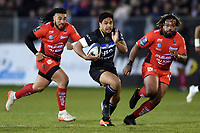 Ben Tapuai of Bath Rugby goes on the attack. European Rugby Champions Cup match, between Bath Rugby and RC Toulon on December 16, 2017 at the Recreation Ground in Bath, England. Photo by: Patrick Khachfe / Onside Images
