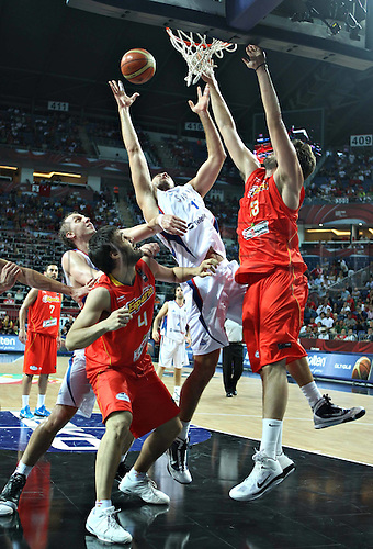 08.09.2010 Serbia's Nenad Krstic during The Quarter Finals Match Against Spain in The 2010 FIBA Basketball World Championship in Istanbul, Turkey. Serbia  qualified for The Semi-Finals After defeating Spain 92-89.