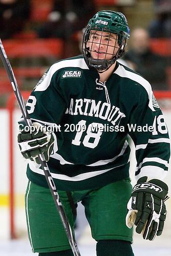 Joe Stejskal (Dartmouth - 18) - The Harvard University Crimson defeated the Dartmouth College Big Green 4-1 (EN) on Monday, January 18, 2010, at Bright Hockey Center in Cambridge, Massachusetts.