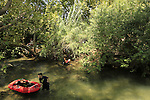Israel, Upper Galilee, the Lower Banias stream