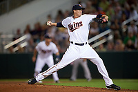 Minnesota Twins starting pitcher Kyle Gibson (44) delivers a pitch during a Spring Training game against the Boston Red Sox on March 16, 2016 at Hammond Stadium in Fort Myers, Florida.  Minnesota defeated Boston 9-4.  (Mike Janes/Four Seam Images)