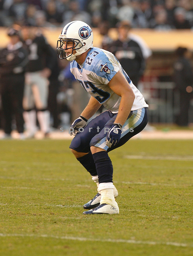 Donnie Nickey during the Tennessee Titans v. Oakland Raiders game on December 19, 2005...Raiders win 40-35..Rob Holt / SportPics