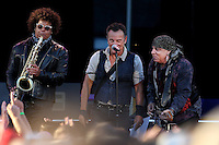 CHRISTCHURCH, NEW ZEALAND - FEBRUARY 21:  Bruce Springteen and the E Street Band perform during their Summer 17 Tour at AMI Stadium on February 21, 2017 in Christchurch, New Zealand.  (Photo by Dianne Manson/Getty Images)