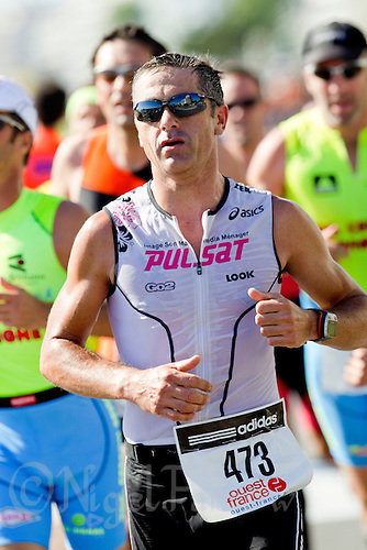 19 SEP 2010 - LA BAULE, FRA - Laurent Jalabert - Triathlon Courte Distance - 23rd Triathlon Audencia-La Baule .(PHOTO (C) NIGEL FARROW)