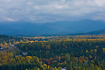 View overlooking the community of Colburn in autumn. North of Sandpoint, Idaho.