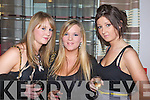 ENJOYING: Sinead Healy, Theresa Lee and Nicola Hanlon, Tralee enjoying the 2009 Kerry Rose Selection at the Earl of Desmond Hotel, Tralee on Saturday night.