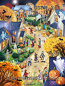 Randy, CHILDREN, KINDER, NIÑOS,halloween,ghosts,bats,witches, paintings+++++,USRW240,#K# ,everyday