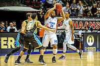 GRONINGEN - Basketbal, Donar - Den Helder Suns, Dutch Basketbal League, seizoen 2018-2019, 20-04-2019,Donar speler Lance Jeter met Den Helder speler Leon Williams