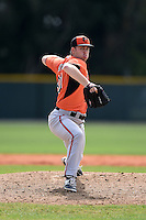 Pitcher Daniel Ayers (60) of the Baltimore Orioles organization during a minor league spring training camp day game on March 23, 2014 at Buck O'Neil Complex in Sarasota, Florida.  (Mike Janes/Four Seam Images)