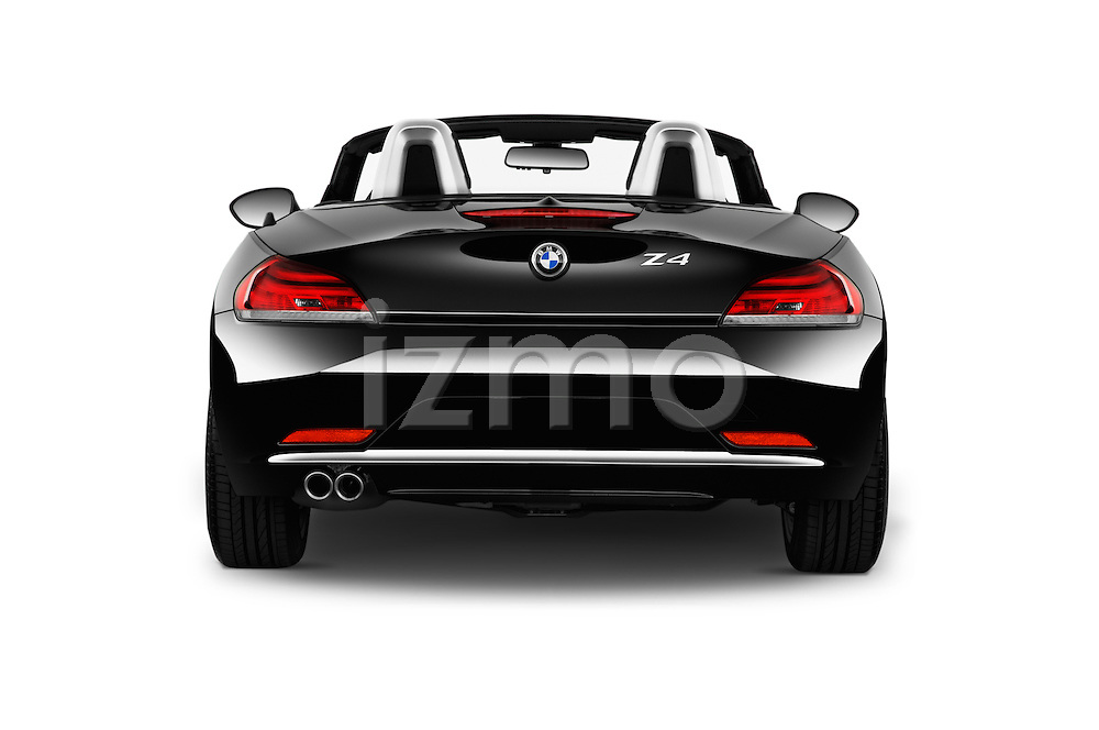 Straight rear view of 2016 BMW Z4 sDrive28i 2 Door Convertible Rear View  stock images