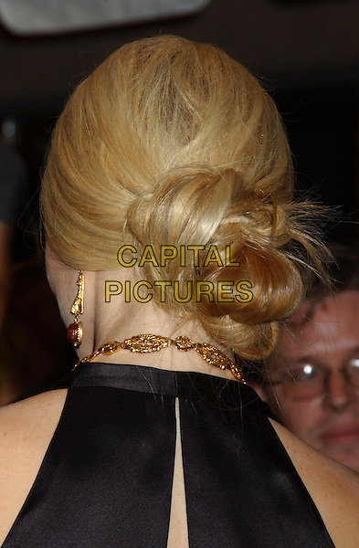 "GWYNETH PALTROW'S HAIR.At the ""Proof"" Premiere held at Roy Thomson Hall,.Toronto Film Festival,.Toronto, 12th September 2005.portrait headshot black satin halter neck top hair up bun.Ref: FARR.www.capitalpictures.com.sales@capitalpictures.com.© Capital Pictures."