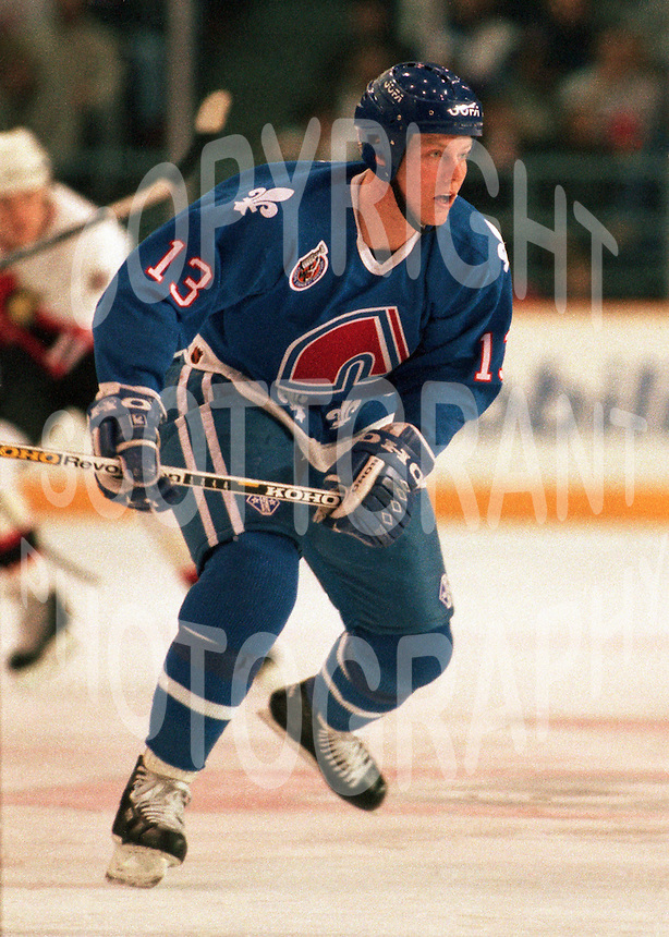 Mats Sundin Quebec Nordiques 1993. Photo F. Scott Grant