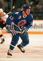Mats Sundin Quebec Nordiques 1993. Photo F. Scott Grant