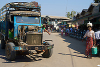 Old Truck in the Bagan Market area, Myanmar, Burma,