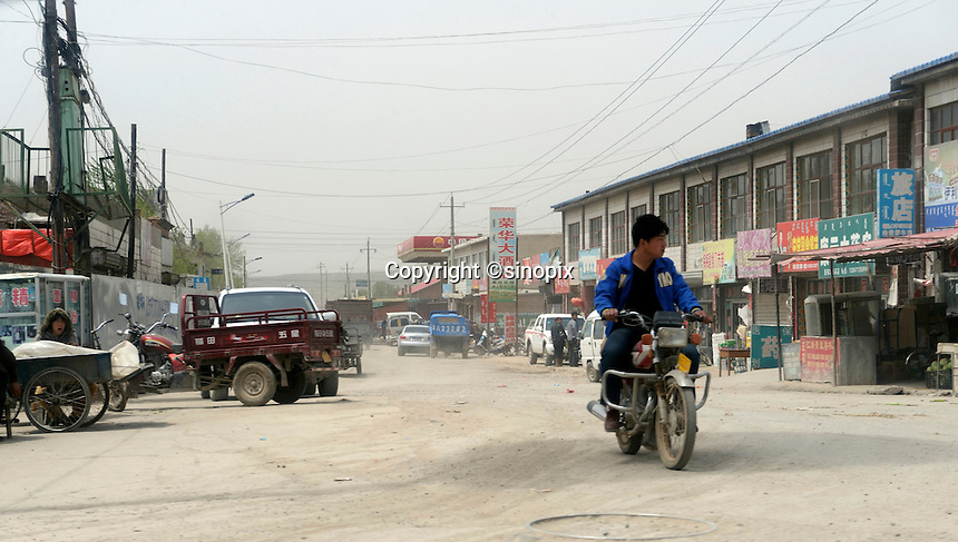 Old town of Qingshuihe, the National-level Poor county, Hohhot, Inner Mongolia, China.  11-May-2011