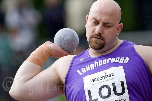 18 MAY 2008 - LOUGHBOROUGH, UK - Mark Edwards - Shot - Loughborough International Athletics. (PHOTO (C) NIGEL FARROW)