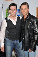 "PAUL J. ALESSI & NICK STABILE.5th Annual Hollyshorts Film Festival Screening of ""Knuckle Draggers"" held at Laemmle's Sunset 5 Theatre, West Hollywood, CA, USA..August 12th, 2009.half length grey gray waistcoat black leather jacket .CAP/ADM/BP.©Byron Purvis/AdMedia/Capital Pictures."