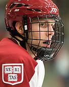 Eric Kroshus (Harvard - 10) - The Harvard University Crimson defeated the visiting Clarkson University Golden Knights 3-2 on Harvard's senior night on Saturday, February 25, 2012, at Bright Hockey Center in Cambridge, Massachusetts.