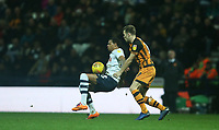 Preston North End's Lukas Nmecha shields the ball from Hull City's Todd Kane<br /> <br /> Photographer Stephen White/CameraSport<br /> <br /> The EFL Sky Bet Championship - Preston North End v Hull City - Wednesday 26th December 2018 - Deepdale Stadium - Preston<br /> <br /> World Copyright &copy; 2018 CameraSport. All rights reserved. 43 Linden Ave. Countesthorpe. Leicester. England. LE8 5PG - Tel: +44 (0) 116 277 4147 - admin@camerasport.com - www.camerasport.com