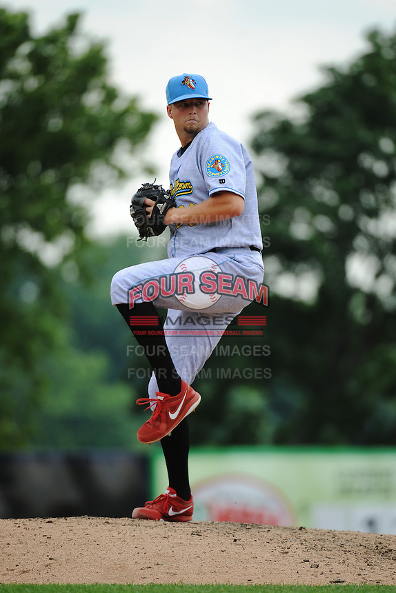 Reading Fightin Phils pitcher Tyler Knigge (30) during game against the Trenton Thunder at ARM & HAMMER Park on July 8, 2013 in Trenton, NJ.  Trenton defeated Reading 10-6.  (Tomasso DeRosa/Four Seam Images)