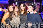 Maeve O'Connor, Emer Barry, Julie O'Sullivan and Aaron O'Halloran pictured at the Kube bar, Killarney on Tuesday night to ring in the New Year.
