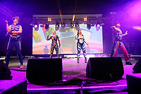 LONDON, ENGLAND - JUNE 3: Donny Latupeirissa, Denise Post-Van Rijswijk, Kim Sasabone and Robin Pors of 'Vengaboys' performing at Mighty Hoopla at Brockwell Park, Brixton on June 3, 2018 in London<br /> CAP/MAR<br /> &copy;MAR/Capital Pictures