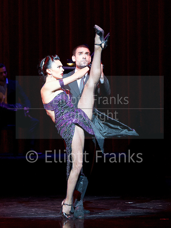 Tango Fire <br /> at The Peacock Theatre, London, Great Britain <br /> press photocall <br /> 30th January 2017 <br /> <br /> <br /> A Los Amigos <br /> German Cornejo &amp; Gisela Galeassi <br /> <br /> <br /> Photograph by Elliott Franks <br /> Image licensed to Elliott Franks Photography Services