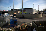 An exterior view of the Globe Arena before Morecambe hosted Plymouth Argyle in a League 2 fixture. The stadium was opened in 2010 and replaced Morecambe's traditional home of Christie Park which had been their home since 1921, the year after their foundation. Plymouth won this fixture by 2-0 watched by 2,081 spectators, in a game delayed by 30 minutes due to traffic congestion affecting travelling Argyle fans.