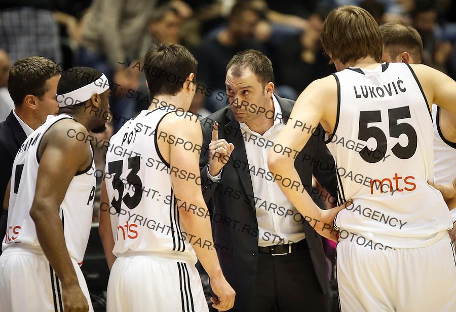 Kosarka FIBA Champions League season 2016-2017<br /> Partizan v PAOK<br /> Nenad Canak (C) Franklin Robinson Stefan Pot (L) Uros Lukovic (R)<br /> Beograd, 08.01.2016.<br /> foto: Srdjan Stevanovic/Starsportphoto &copy;