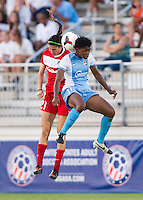 Boyds, MD - August 16, 2014: Sky Blue FC defeated the Washington Spirit 1-0 during a National Women's Soccer League (NWSL) match at the Maryland SoccerPlex.