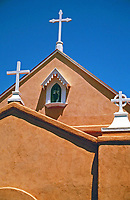 San Felipe de Neri Church is a historic Catholic church located on the north side of Old Town Plaza in Albuquerque, New Mexico. Built in 1793, it is one of the oldest surviving buildings in the city.