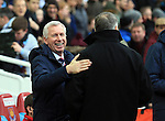 West Ham's Sam Allardyce greets Crystal Palace's Alan Pardew<br /> <br /> Barclays Premier League - West Ham United  vs Crystal Palace  - Upton Park - England - 28th February 2015 - Picture David Klein/Sportimage