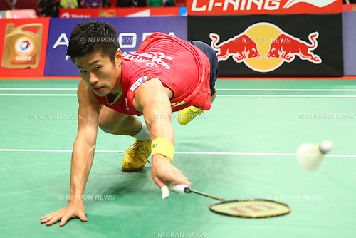 Sho Sasaki (JPN), AUGUST 12, 2015 - Badminton : TOTAL BWF World Championships 2015 Men's Singles 2nd round match at Istora Senayan Arena, Jakarta, Indonesia. (Photo by Shingo Ito/AFLO SPORT)