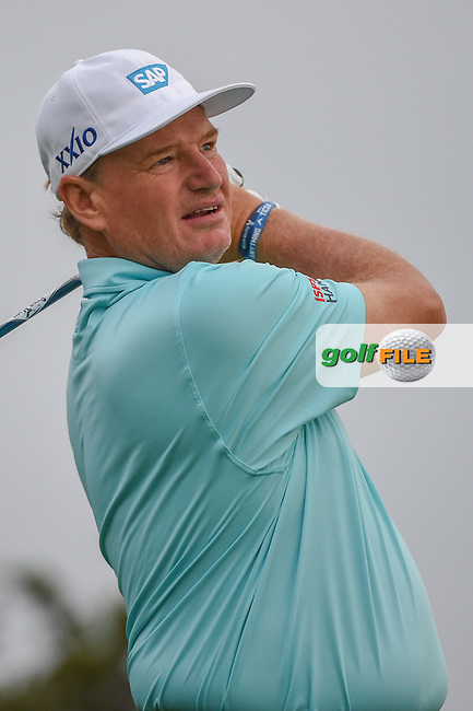 Ernie Els (RSA) watches his tee shot on 11 during day 1 of the Valero Texas Open, at the TPC San Antonio Oaks Course, San Antonio, Texas, USA. 4/4/2019.<br /> Picture: Golffile | Ken Murray<br /> <br /> <br /> All photo usage must carry mandatory copyright credit (© Golffile | Ken Murray)