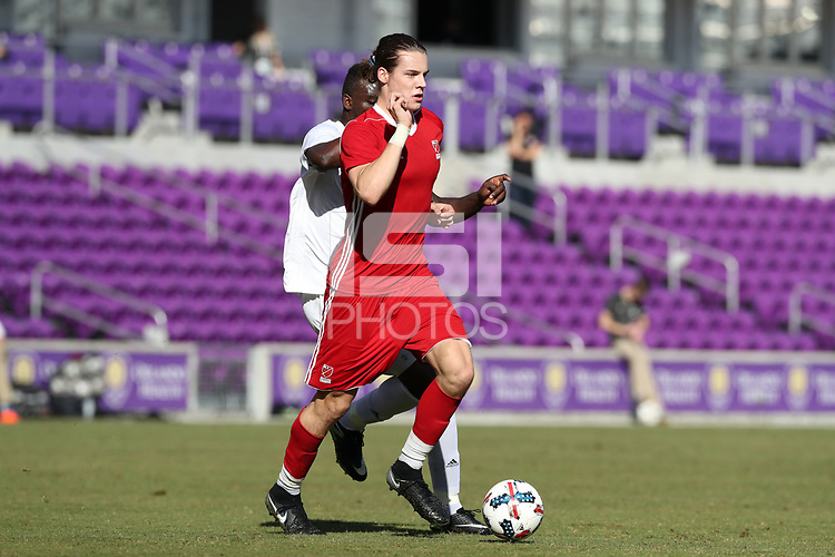 Orlando, Florida - Wednesday January 17, 2018: Markus Fjortoft. Match Day 3 of the 2018 adidas MLS Player Combine was held Orlando City Stadium.