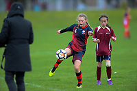Girls football. 2019 AIMS games at Gordon Spratt Park in Papamoa, New Zealand on Tuesday, 10 September 2019. Photo: Dave Lintott / lintottphoto.co.nz